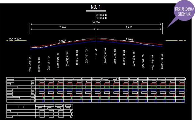 路面 標示 cad データ